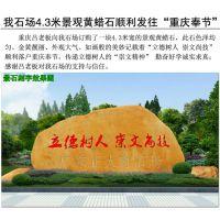 广东黄蜡石 校区刻字文化石 景观石