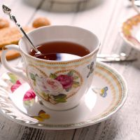 创意手绘咖啡杯套装 玫瑰欧式家用陶瓷高档英式杯碟下午茶茶具