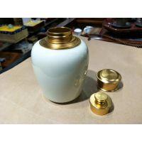 景德镇建源陶瓷专业定做食品密封陶瓷罐子 礼盒装茶叶罐厂家