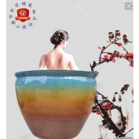 洗浴中心专用泡澡缸 上海极乐汤泡温泉缸 温泉陶瓷泡澡缸厂家定做