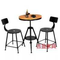 龙岗主题餐厅酒吧家具,复古铁艺餐桌椅定制