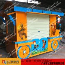 涞源售货车实木防腐商场售货车