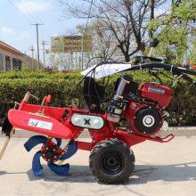直销农用手扶式开沟机土豆种植起垄机多功能柴油旋耕培土机器