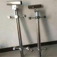 金聚进 厂家直销不锈钢地铁站夹玻璃立柱 地铁不锈钢栏杆立柱