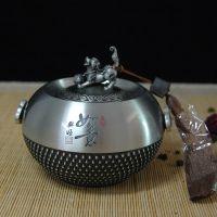 纯锡茶叶罐锡制兴旺如意金属密封储茶罐狗年商务礼品礼盒包装送长辈厂家直销