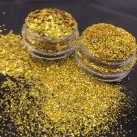批发PET金色金葱粉 耐高温涂料用真石漆金粉 硅藻泥金片腰线金粉