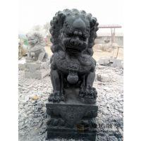 1.5米石雕狮子一对看门镇宅石狮子青石狮子家用门口狮子招财墓地 玖坊雕塑