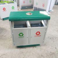 青蓝直供绵阳高新区物业环保垃圾桶 钢板果壳箱 经久耐用
