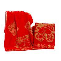 中国结毛巾厂家直销大红双喜字喜庆毛巾8620批发可一件代发比棉吸水