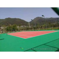 郴州篮球场地面铺设 丙烯酸专用球场油漆地胶 永兴体育球场地面工程施工
