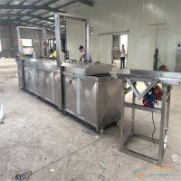 直销杭州蚕豆全自动出料油炸锅、新品推荐鸡鸭肉连续式解冻线