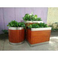 9月中旬厂家直销HUX032售楼部、中国好花箱,高档木质花箱,别墅木花盆