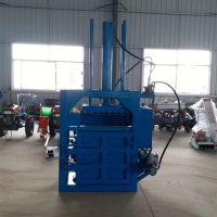 废铁屑回收打包机 富兴铁桶油漆桶压扁机 立式废铁销压缩机厂家
