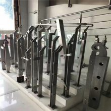 新云 新款不锈钢玻璃阳台栏杆 不锈钢扶手立柱厂家直销LZ-07