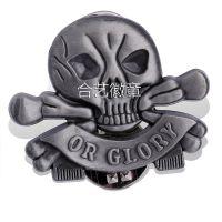 供应合益礼品,骷髅头徽章、仿珐琅上色徽章、金属胸牌、襟章制作
