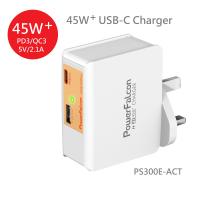 PowerFalcon 45PD 双端口(USBA USBC) 充电器/可换头