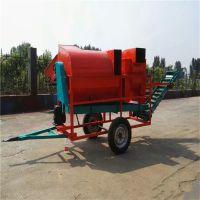 柴油机带动花生摘果机型号 后挂式装袋分离机 采果机