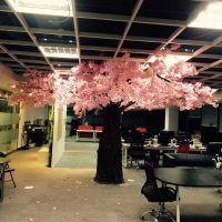室内桃花树的价格?深圳南山樱花树 可定制仿真植物