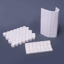 淄博新润清供应正方形,六边形耐磨马赛克陶瓷衬片