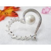 心形珍珠镶钻鞋花 潮流时尚饰品 鞋子配饰配件