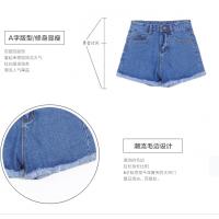 新品时尚七分袖 库存尾单牛仔 夏季裤子韩版女装复古刺绣流苏破洞拉链牛仔裤