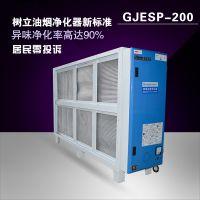 烧烤专用油烟净化器 低空20000风量 除烟98% 环保认证