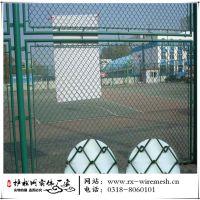 厂家勾花网学校围网球场护栏网 体育场防护网绿色篮球足球场围栏
