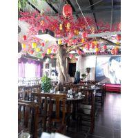 仿真樱花树桃花树 餐厅定做假树 生态餐厅假树制作厂家