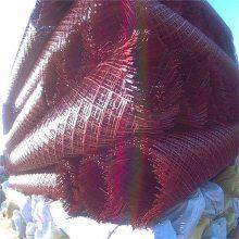 红色菱形防护网 镀锌铁板网 金属围墙网