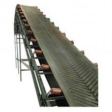 兴亚揭阳市二楼送料皮带机 定做平板带式输送机 简易皮带输送机