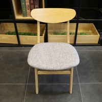 倍斯特现代中式实木薯片椅创意休闲奶茶店中餐厅厂家定制