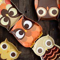 猫头鹰卡通手绘陶瓷创意造型菜盘子餐具彩绘盘子可爱个性送礼礼品