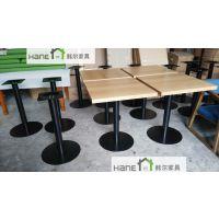韩尔品牌 供应成都H12咖啡厅桌椅定做 星巴克实木家具商