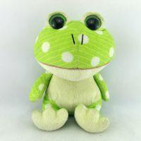 新款可爱大眼青蛙儿童短毛绒玩具公仔定制