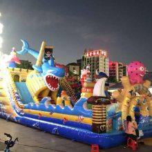 河北邢台15X8米海底世界充气大滑梯气包图片/心悦儿童充气蹦蹦床厂家