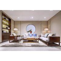 明居装饰玫瑰湾案例中式装修风格三室两厅