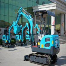 超小型挖掘机 1.8吨微型迷你橡胶履带挖掘机 农用小挖机钩机价格