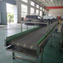 厂家定制不锈钢网带输送机耐高温输送线可输送食品生产包装流水线德隆定制