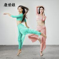 佛山瑜伽服厂家 供应康愫雅禅舞服舞蹈健身服 莫代尔瑜伽服套装K1666 M/L/XL