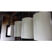 弧形包柱铝单板制造方案,圆柱铝单板规格定制价格。