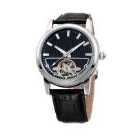 厂家批发男款镂空全自动机械手表真皮夜光防水手表