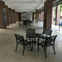 厂家直销 新款 户外铸铝桌椅 休闲庭院桌椅5件套一件代发
