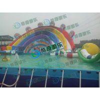 游乐项目加厚支架水池 彩虹水滑梯