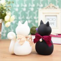 厂家定制搪胶玩具 黑白背影猫咪公仔摆件送女生生日礼物玩偶PVC材质