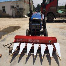 小型单向拨料割晒机 润众机械轴传动油葵收割机