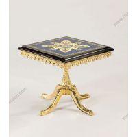 GALOTTA家具意大利金色古典客厅单人椅实木餐桌