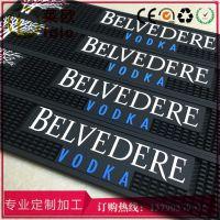 莱欧OEM供应啤酒垫 硅胶酒吧用品多功能吧垫 黑色防滑pvc环保酒吧垫