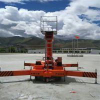 供应套缸式升降机SJT0.2-18液压高空作业平台维修清洁专业高空作业梯