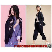 杭州一线新款女装品牌折扣艾格尾货货源批发