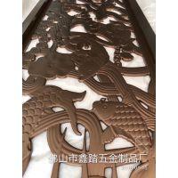 浙江酒店装饰铝艺玫瑰金屏风5大特点